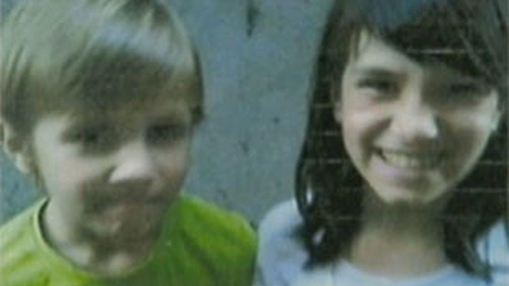 Florín y Andrea, los niños que aparecieron en un ppzo en Torrelaguna.