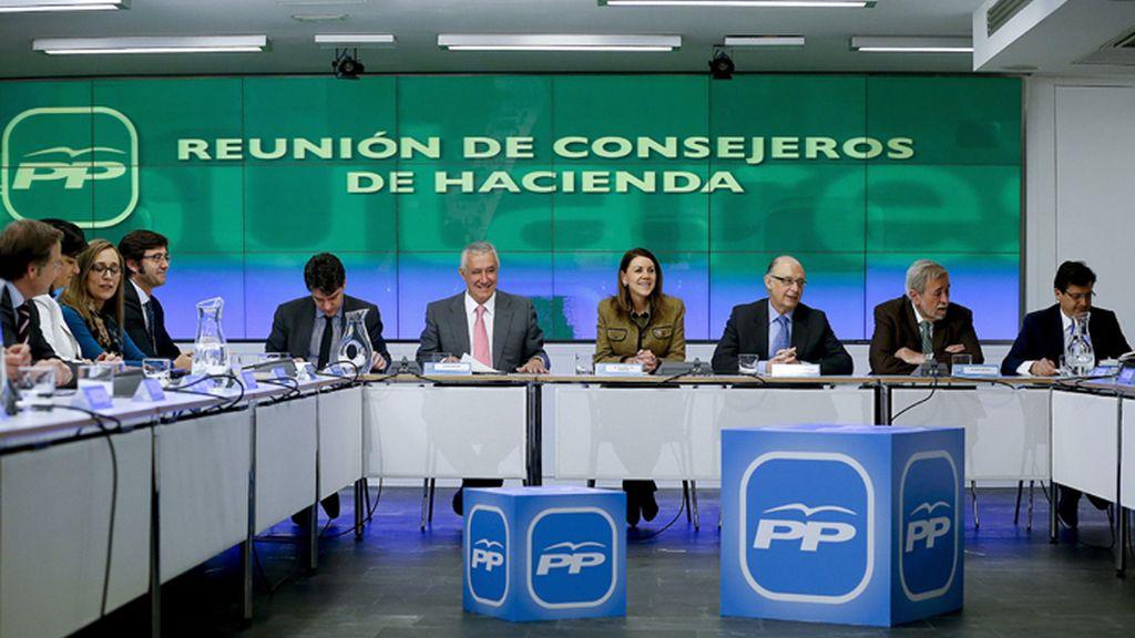 Reunión de consejeros de Hacienda del PP