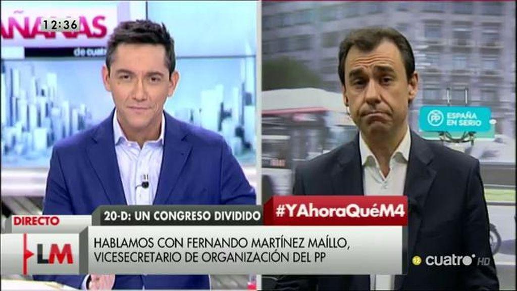 """Martínez Maillo (PP): """"Espero que el PSOE no pacte con Podemos"""""""