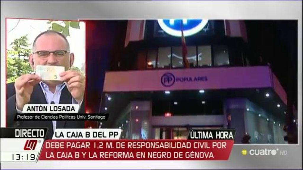 """Antón Losada, irónico: """"De la corrupción también se sale"""""""