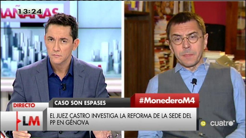 """Monedero, sobre el balance de Rajoy: """"Nos intentan vender otra vez gato por liebre"""""""