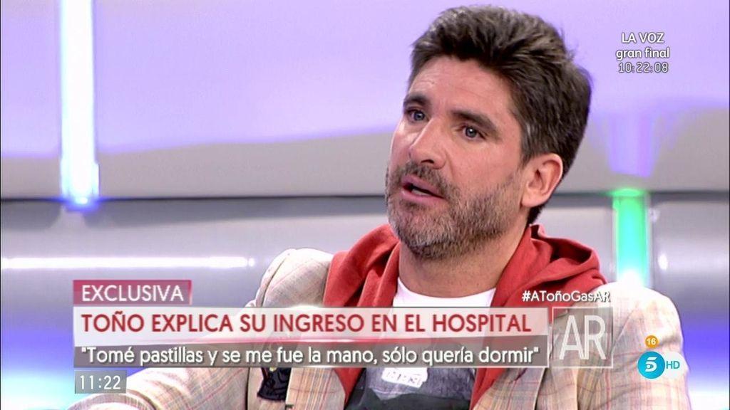 """Toño Sanchís: """"En ningún momento me intenté suicidar, sólo quería dormir"""""""