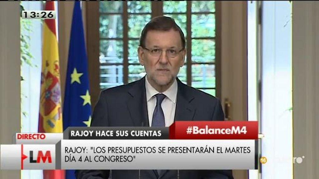 """Mariano Rajoy: """"Se ha confirmado de manera clara la recuperación económica"""""""