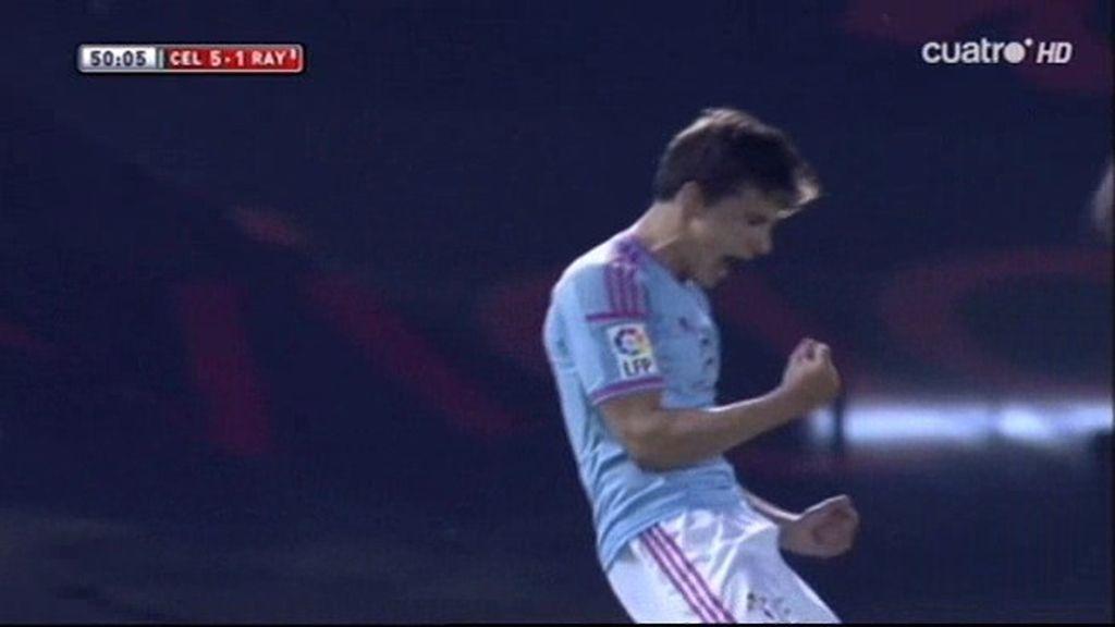 Santi Mina aprovecha un pase de Orellana para marcar por tercera vez (5-1)
