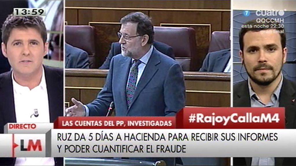 """A. Garzón: """"Han acabado lanzándose unos a otros casos de corrupción pero los ciudadanos no tenemos información"""""""