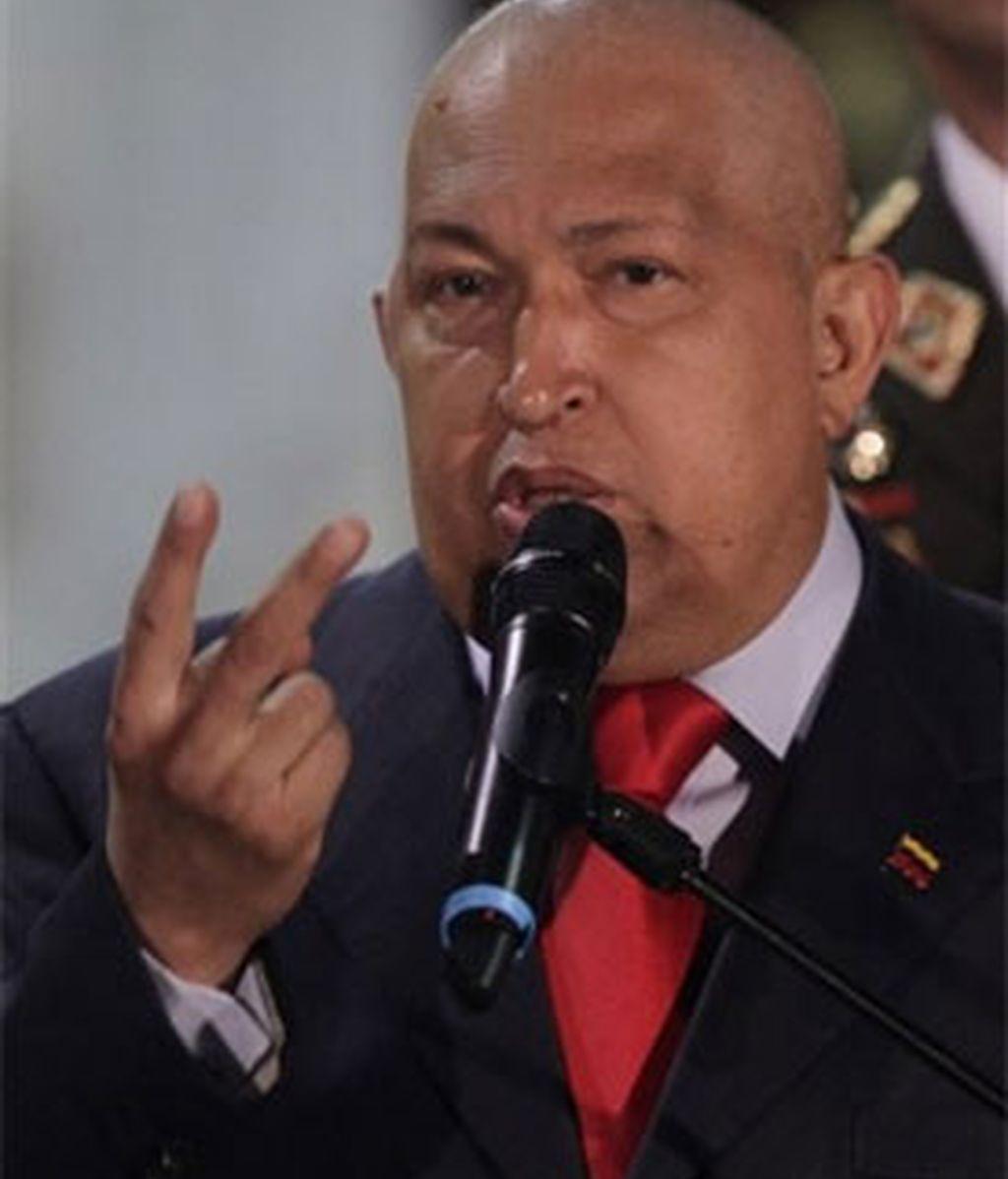 """Chavez: """"No podemos permitir que se sigan llevando el oro"""". Foto: AP."""