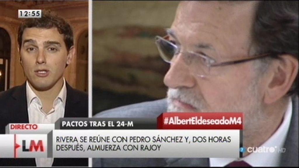 """Albert Rivera: """"Les hemos trasladado nuestras bases a PP y PSOE"""""""