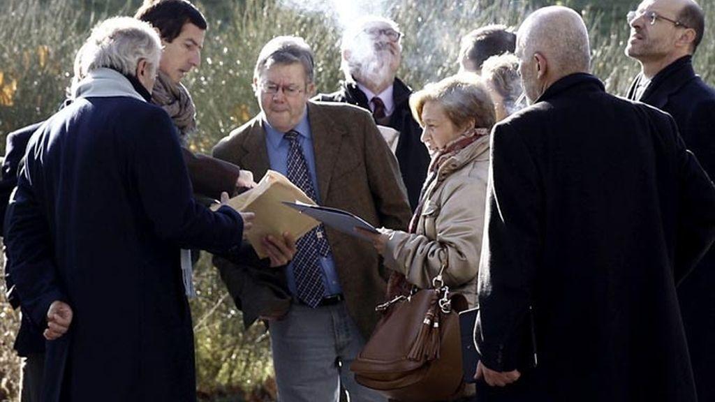 El juez Eduardo López Palop realiza junto a los letrados una inspección ocular del Madrid Arena