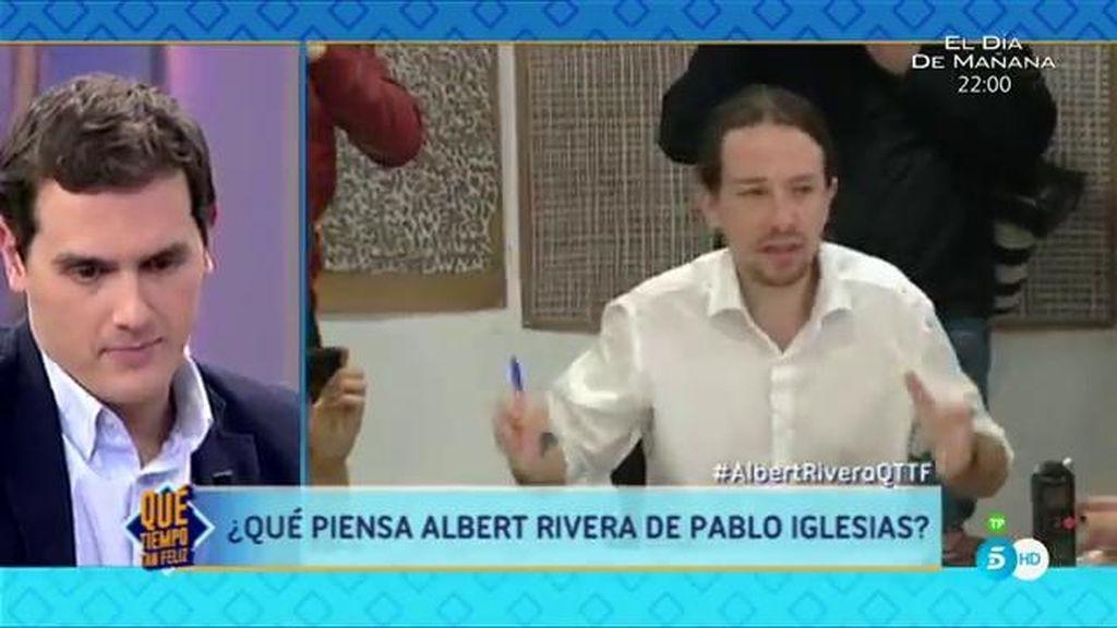 """Albert Rivera, sobre Pablo Iglesias: """"No comparto sus soluciones, es volver al pasado"""""""
