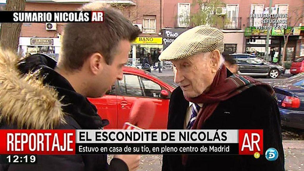Francisco Nicolás se refugió en casa de su tío tras ser puesto en libertad