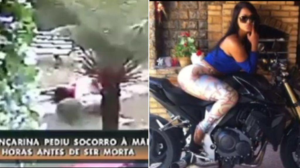 Duras imágenes en las que la novia brasileña del mundial es asesinada por su prometido