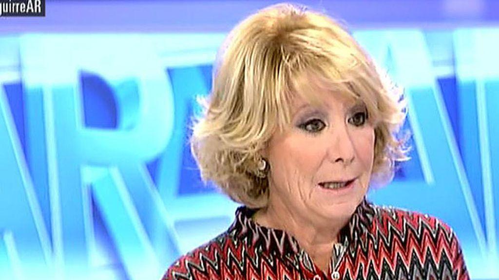 """Aguirre: """"En 30 años no me he llevado nada y lo de Granados me produce bochorno"""""""