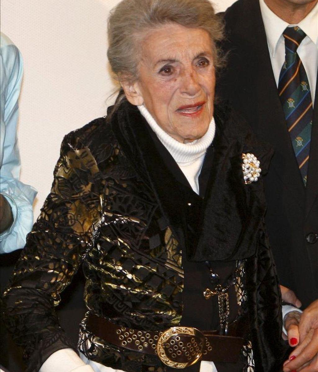 En la imagen, la actriz María Isbert, que hoy cumple 94 años, quien permanece con pronóstico reservado en el hospital de Villarrobledo (Albacete), donde ingresó el pasado domingo. EFE/Archivo