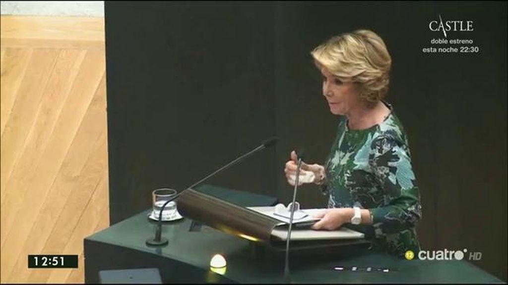 """Aguirre: """"Me parece una auténtica vergüenza que la alcaldesa convoque una rueda de prensa casualmente a la hora de este pleno"""""""