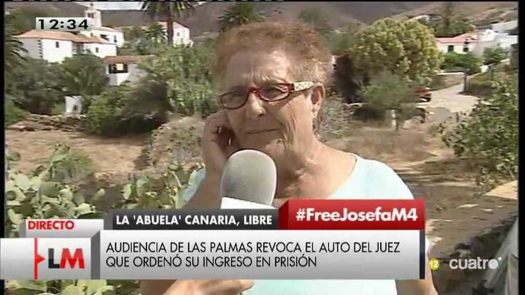 """Josefa: """"Estoy fuera de la cárcel por la presión social, no por el gobierno"""""""