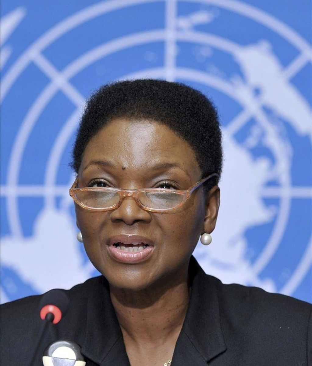 """La subsecretaria general de la ONU para Asuntos Humanitarios, Valerie Amos, dijo: """"No sabemos todavía la magnitud total de las atrocidades cometidas en el país, pero está claro que se han cometido graves violaciones de derechos humanos"""". EFE/Archivo"""