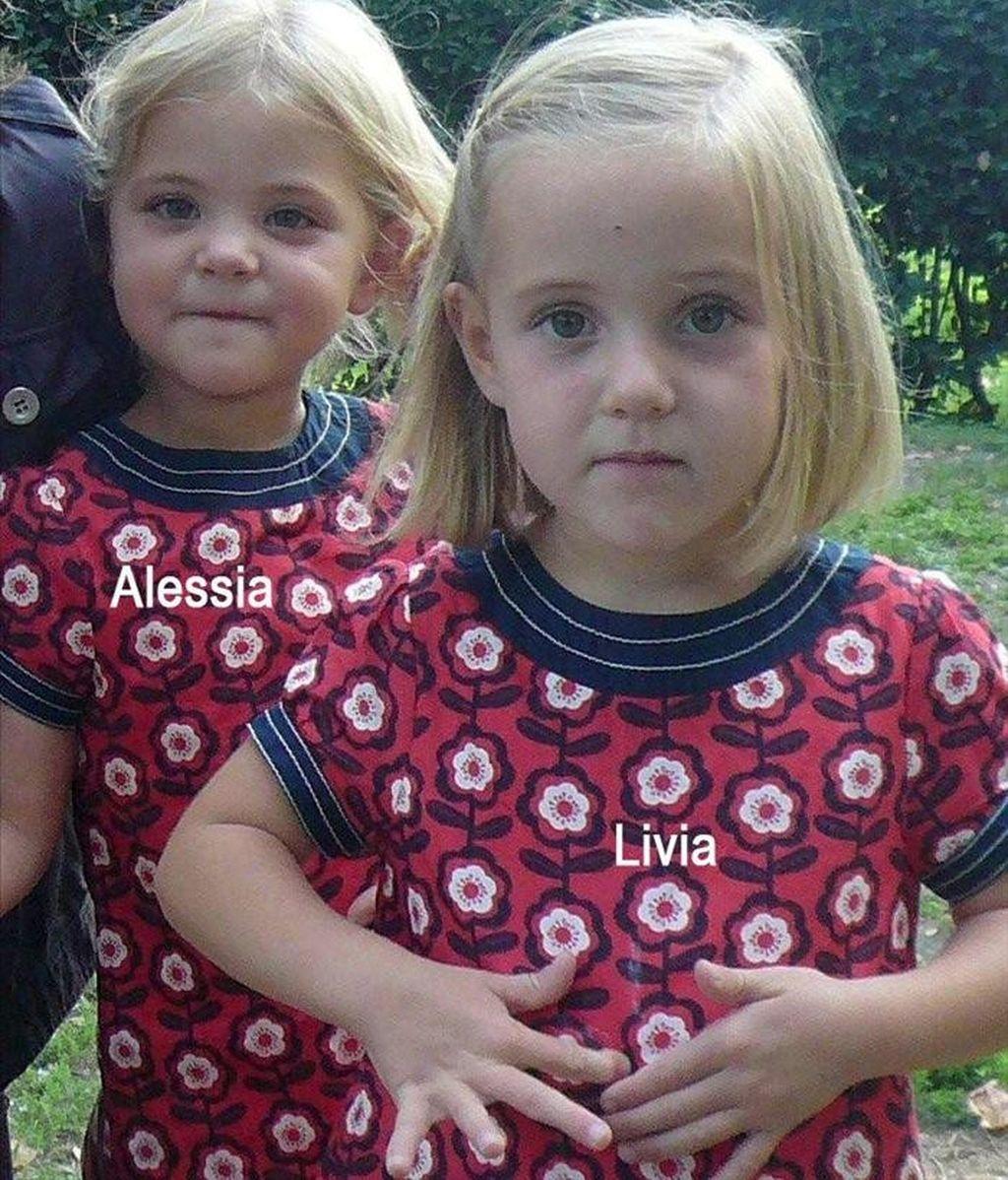 Imagen sin fechar facilitada por la policía del cantón Vadoise ayer, 9 de febrero de 2011, que muestra a las gemelas suizas Alessia (iz) y Livia (d), de seis años, desaparecidas en Italia el pasado 30 de enero. EFE/Policía Cantón Vaudoise