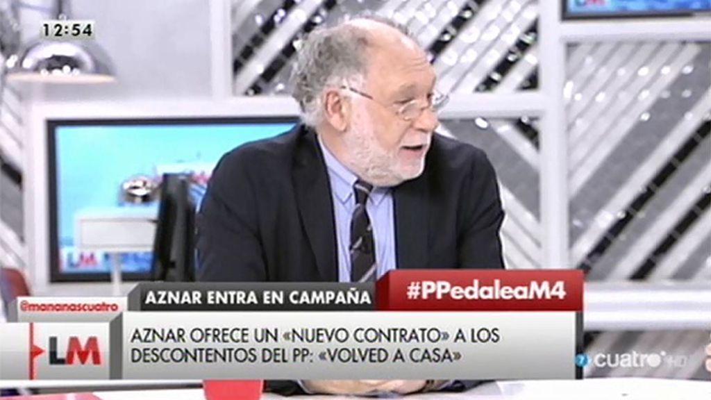 """Ernesto Ekaizer: """"Hay una grabación a Lapuerta con revelaciones muy serias que conciernen a Aznar"""""""