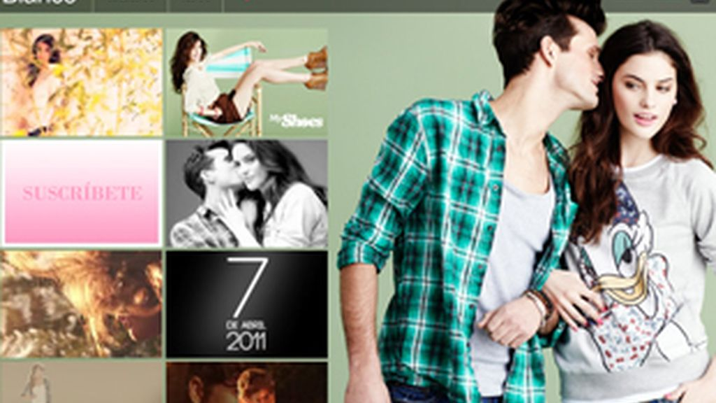 La web de Blanco tiene un 'look' similar al de un catálogo de ropa sobre papel. FOTO: BLANCO