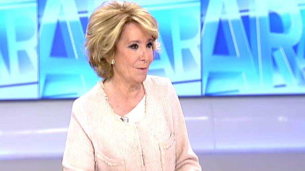 """Aguirre sobre Rajoy: """"Sólo pongo la mano en el fuego por mí"""""""