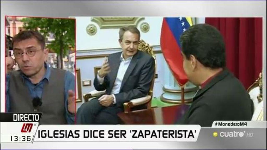 """Monedero, de Zapatero: """"Estaría de acuerdo en que es el mejor expresidente"""""""