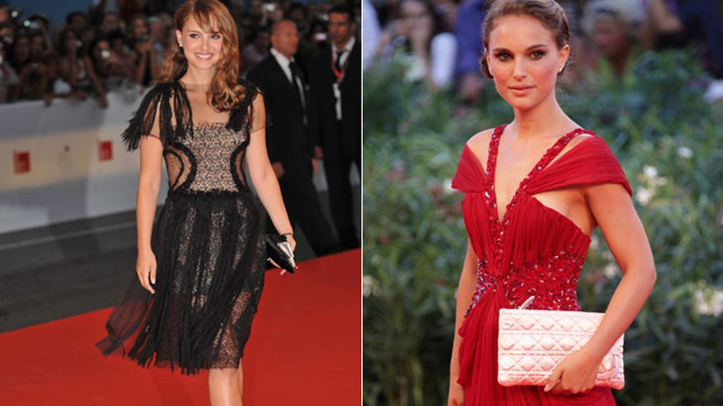 La actriz Natalie Portman muy delgada después de protagonizar 'Cisne negro' en 2010