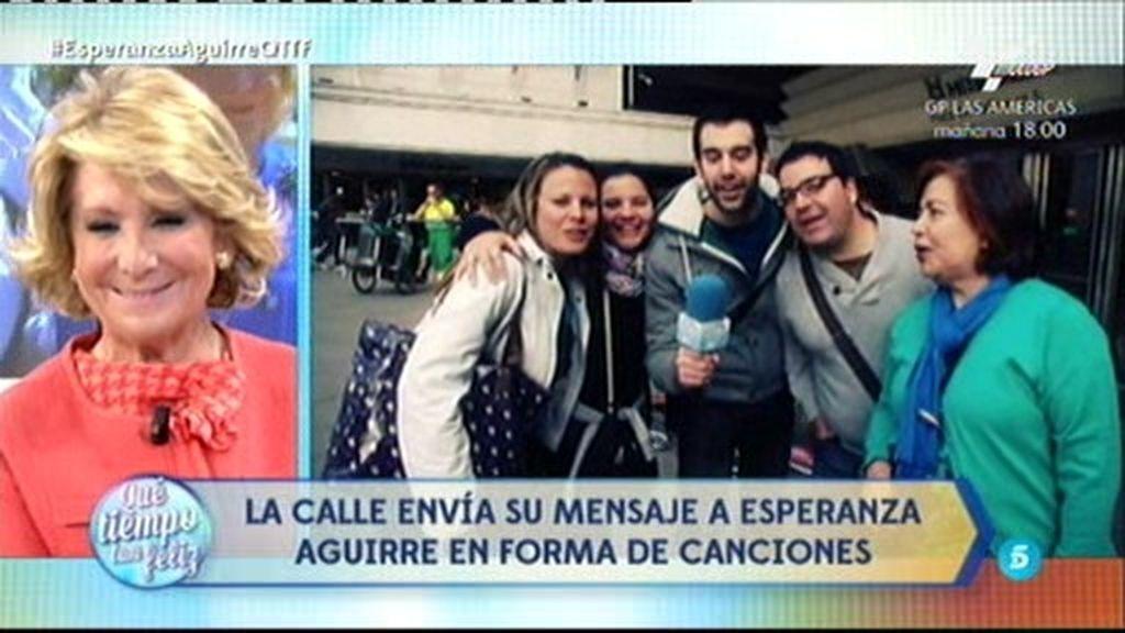 """Los madrileños cantan a la """"rebelde"""" Aguirre: """"A quién le importa lo que yo haga..."""""""