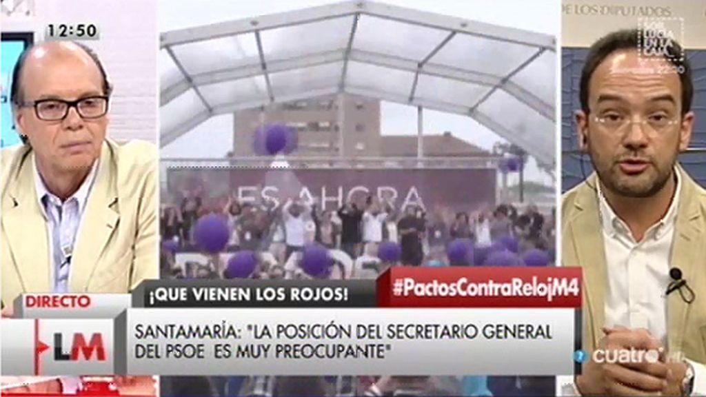 """Antonio Hernando cree que las urnas reflejan que los electores quieren u """"cambio"""" y afirma que el PSOE lo va a """"abanderar"""""""
