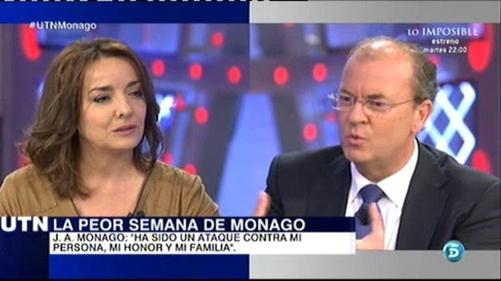 """Pepa Bueno, a J.A. Monago: """"¿Cómo acredita que esos 16 viajes son de trabajo?"""""""