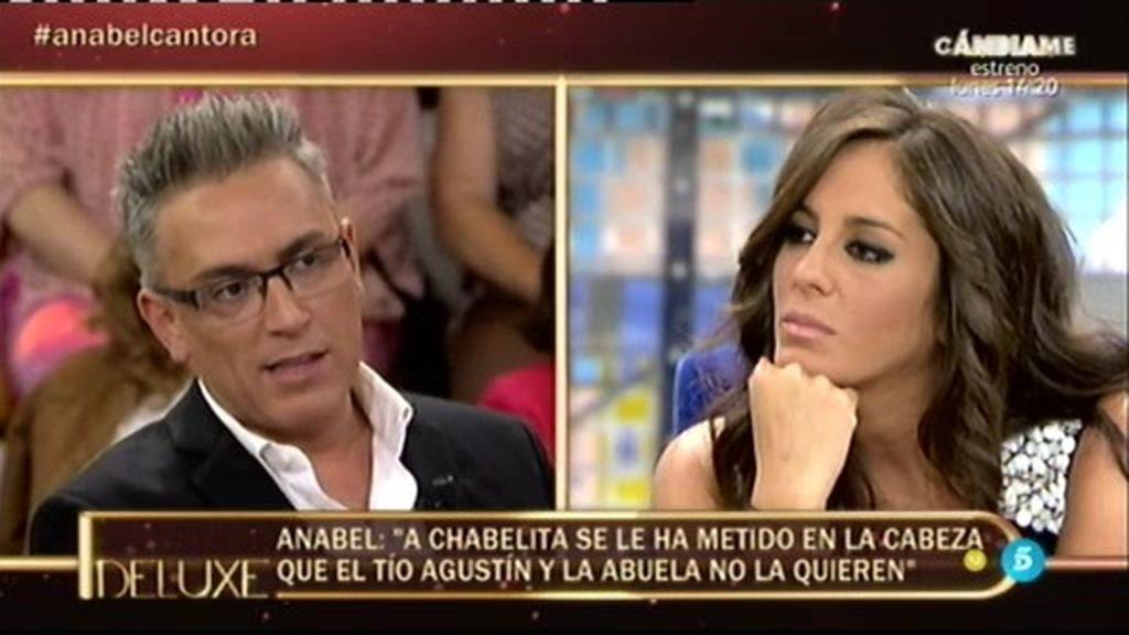 """Anabel: """"Mi tía le dijo a Chabelita que no se iba de Cantora hasta los dieciocho años"""""""
