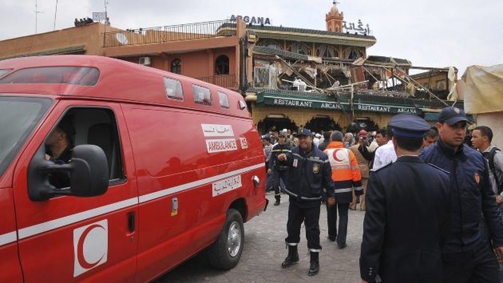 "Explosión ""criminal"" en Marrakesh"