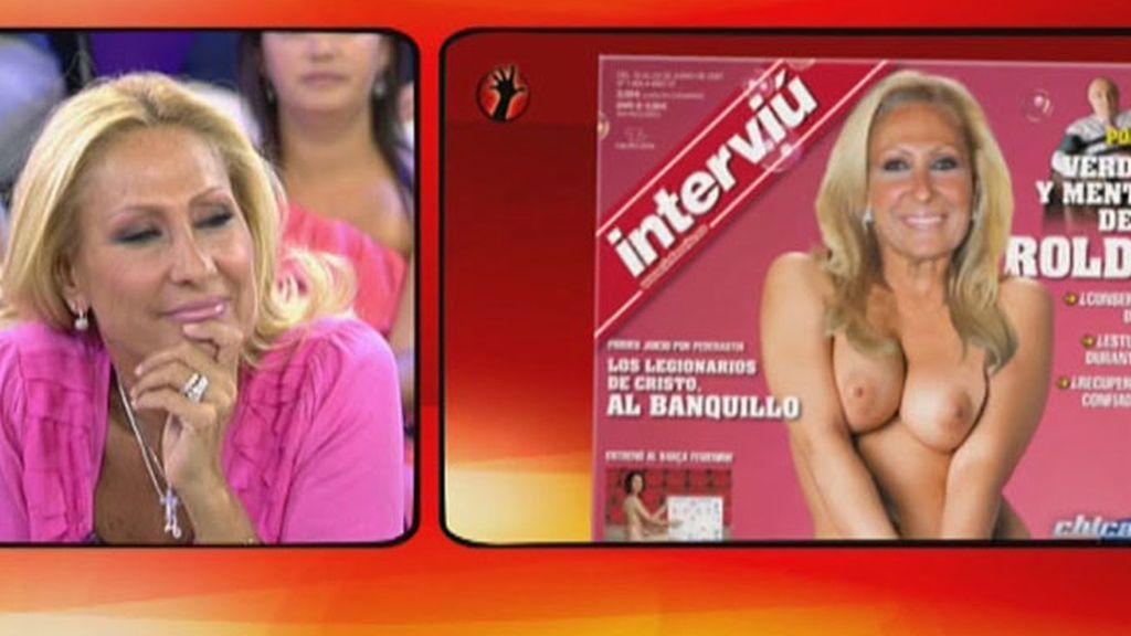 Sálvame simula el posado de Rosa Benito en 'Interviú'
