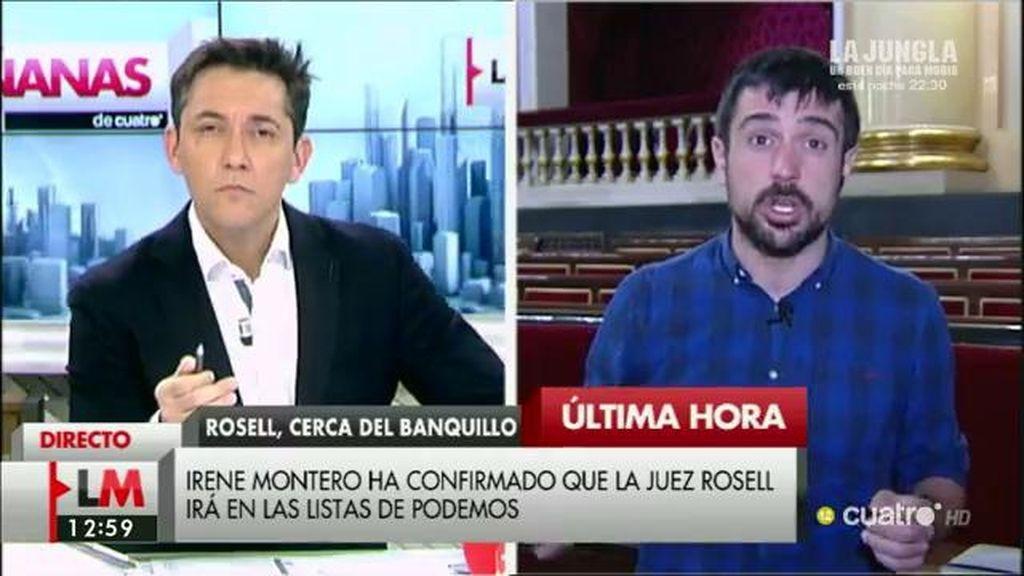 """Ramón Espinar: """"Victoria Rosell da ejemplo apartándose en su condición de aforada"""""""