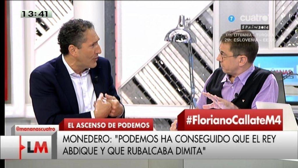 """Monedero: """"Podemos' ha conseguido en unos meses la abdicación del Rey y la dimisión de Rubalcaba"""""""