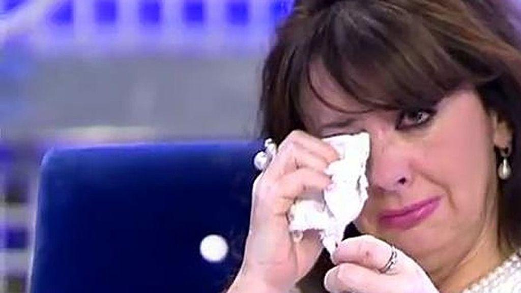 M. Luisa se derrumba al recordar cuánto sufrió su hijo con la muerte de Rocío