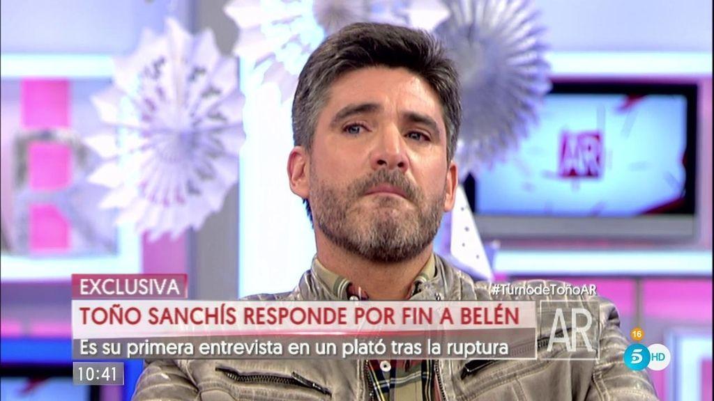 Toño Sanchís no puede contener las lágrimas al hablar de Belén Esteban