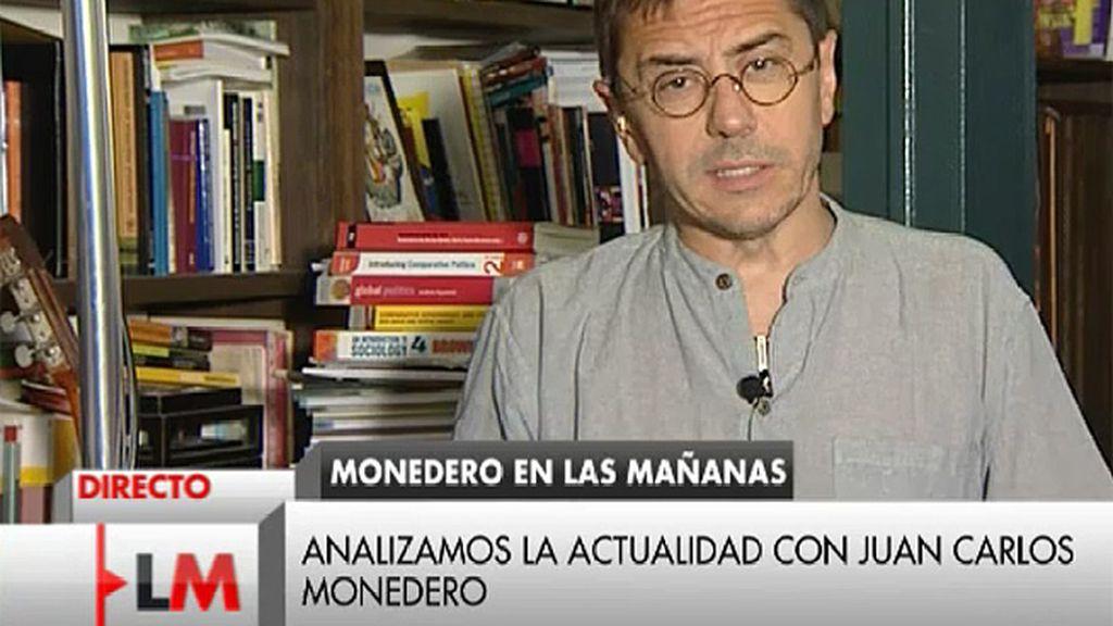 """Monedero: """"En 2011 el PP tenía una hoja de ruta que era como el plano del tesoro"""""""