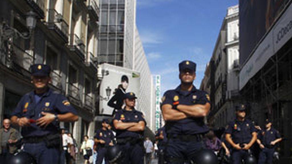 El Sindicato Unificado de la Policía manifiesta su apoyo a las convocatorias realizadas por CCOO y UGT contra la reforma constitucional. Foto: Reuters