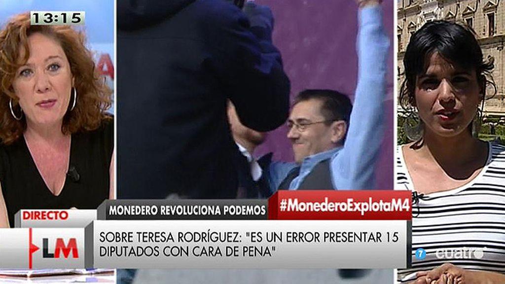 """T. Rodríguez: """"Hay que mantener un equilibrio entre la calle y las instituciones"""""""