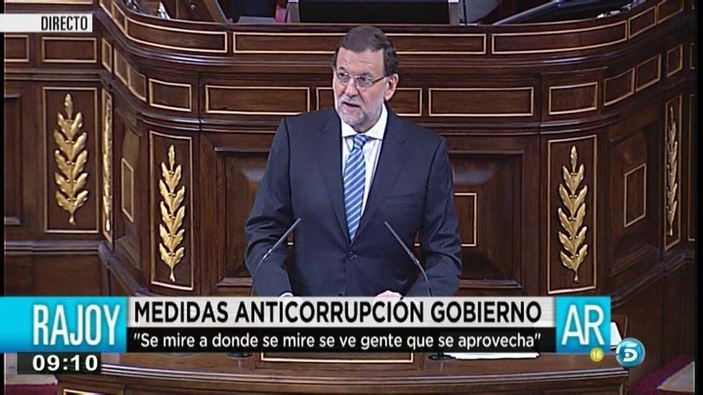 """Mariano Rajoy: """"Hay que señalar al corrupto, no al sistema"""""""