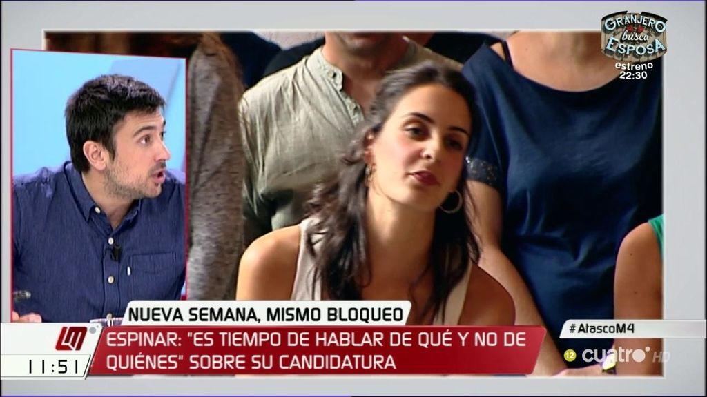"""Ramón Espinar, sobre su candidatura: """"Es tiempo de hablar de qué y no de quiénes"""""""