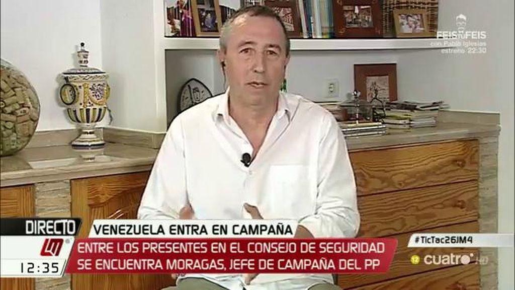"""Joan Baldoví: """"El PP y Ciudadanos están haciendo su campaña en Venezuela"""""""