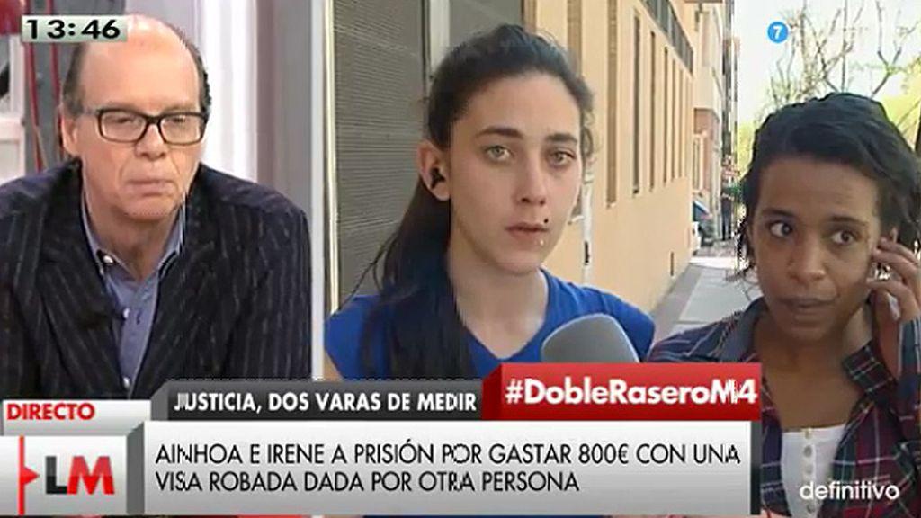 Irene y Ainhoa, condenadas a más de dos años de prisión por pagar 857 euros con una tarjeta que no era suya