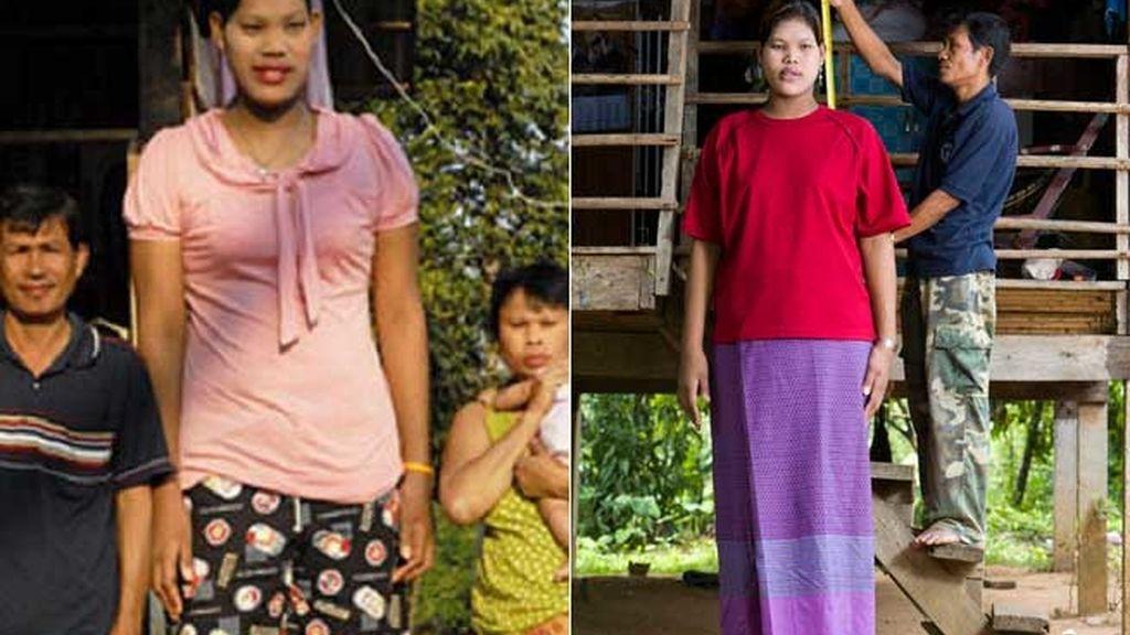 Malee Duangdee es la joven más alta del mundo. Foto: ROIL.SOHU.COM