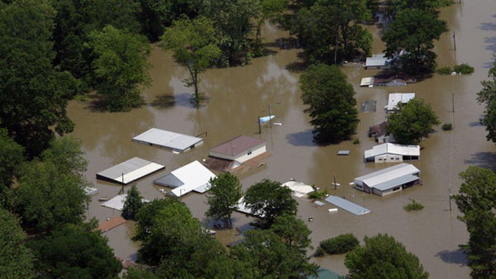 Se desborda el río Mississippi