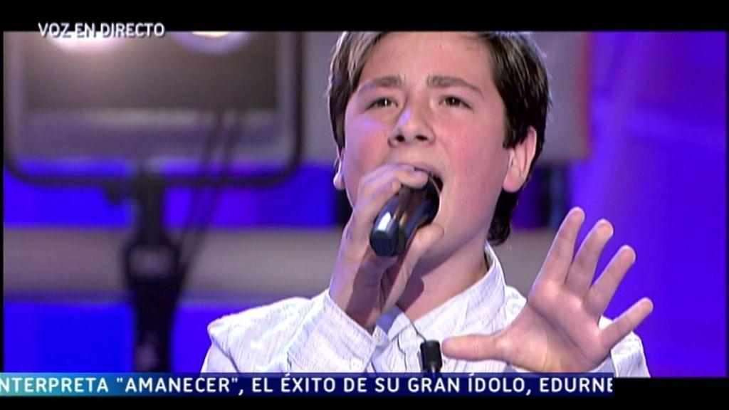 Pedro, primer semifinalista de 'Got talent', interpreta 'Amanecer', en '¡QTTF!'
