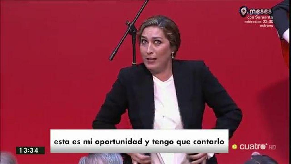 """Estrella Morente, ante Rajoy: """"Estamos hartos de que no haya diálogo"""""""