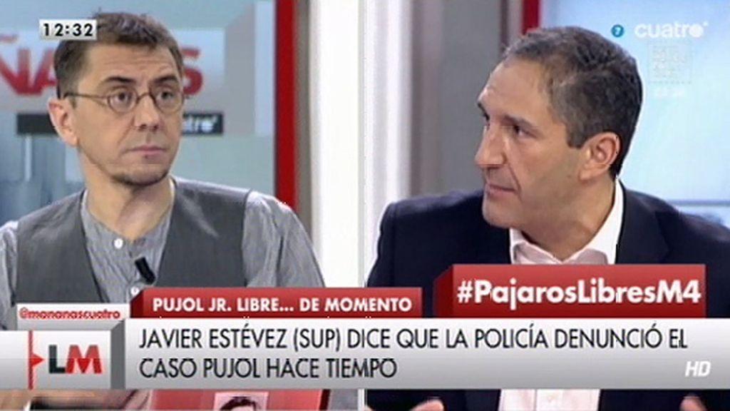 """Monedero, sobre el caso Pujol: """"La división de poderes está moribunda"""""""