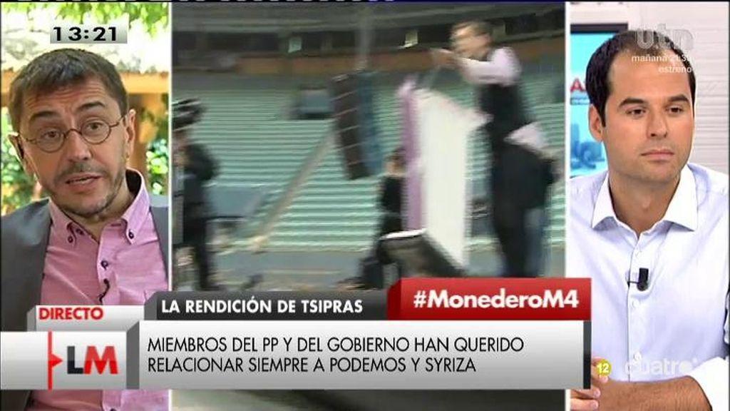 """Aguado, a Monedero: """"No se puede ir a unas elecciones engañando a la gente"""""""
