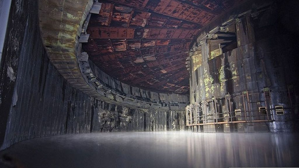 Una fábrica de cohetes en la antigua Unión Soviética